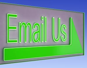 Email Us Button Showing Information Provider Or Help